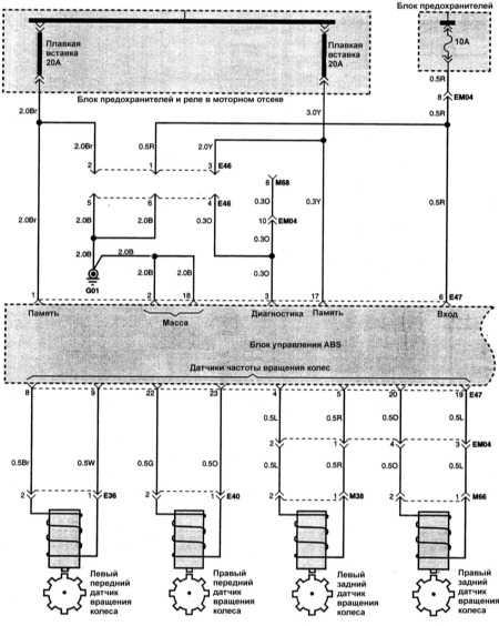 электросхема hyundai accent 1998