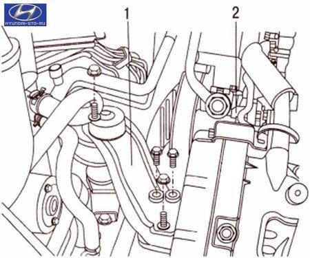 Hyundai установка поршня первого цилиндра в положение ВМТ