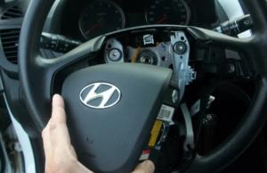 Снятие рулевого колеса Hyundai Solaris