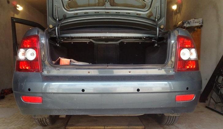 Тюнинг автомобилей. Установка парктроников в Hyundai в тюнинг ателье Авто-М1